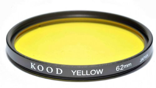 Kood High Quality Optical Glass Yellow Filter Made in Japan 62mm